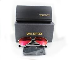 Wildfox Airfox II Deluxe Sunglasses Silver Aviator Pink Mirror Orig. Accessories