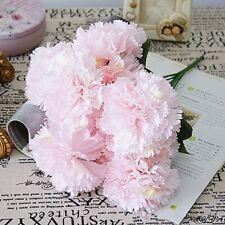 10 Head Light Pink Silk Peony Flowers Artificial Bouquet Fake Flowers, US SELLER
