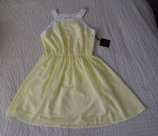 NWT Jack by BB Dakota Summer Dress Keyhole Back Women's Size 2 Yellow and White