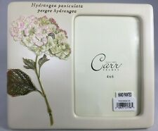Burnes of Boston Carr Picture Frame Hydrangea 4 X 6 Photo Cast Resin