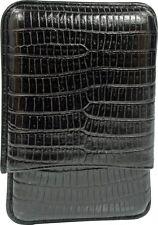 MARTIN WESS BLACK LIZARD COWHIDE/ GOATSKIN LEATHER CIGARILLO CIGAR CASE * NEW *