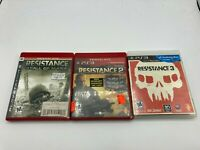 Sony PlayStation 3 PS3 Tested Resistance 1 2 3 Trilogy LOT