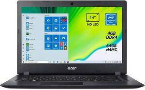 """Acer Aspire A114-32-C2A6 Intel N4020 4GB eMMC 64GB 14"""" HD LED Win10 e Office365"""