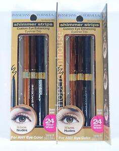 2 Physicians Formula Shimmer Strips Custom Eye Enhancing Eyeliner Trio WARM NUDE