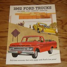 Original 1962 Ford Truck F-100 Pickup Stake Chassis-Cab Cowl Sales Brochure 62