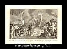 FIRENZE PIERO DE'MEDICI DIFESA DI S. SPIRITO STAMPA ORIGINALE 1800