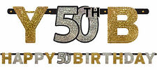 50th Birthday Party Supplies BIRTHDAY BANNER Sparkling Decoration Licensed
