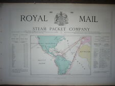 GRANDE PUBLICITÉ ORIG. 19e ROYAL MAIL STEAM PACKET COMPANY