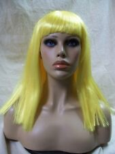 Licensed Katy Perry Dark Horse Yellow Wig Patra Funky Rave Party Girl Smurfette