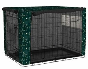 Dual Door Dog Cat Crate Cover, Durable Windproof Pet Kennel Cover Fit for Wire