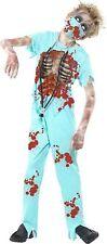 Smiffys Childrens Zombie Surgeon Halloween Fancy Dress Costume Blue Boys Blood Teen (age 13 )