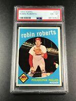 ROBIN ROBERTS 1959 TOPPS #352 VINTAGE CARD EX-MINT PSA 6 PHILADELPHIA PHILLIES