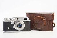 Shanghai 58 II 35mm Camera Chinese Leica Copy w 50mm f/3.5 Lens & Case READ V16