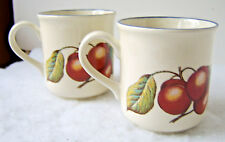 2 STAFFORDSHIRE Tableware Autumn Fayre Cherry Cups Mugs - England