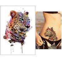 Temporäres Tattoo Tiger Bunt Design Klebetattoo Körperkunt