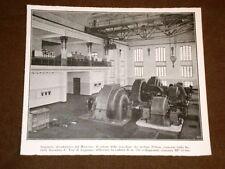 Impianto idroelettrico del Monviso nel 1923 Macchine turbine Pelton Tosi Legnano