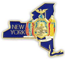 "NEW Classy NY Lapel Tie Pin 1 1/4"" NEW YORK Concord Congers Copiague Coram NICE"