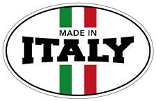 MADE IN ITALY sticker fiat 500 punto stilo arbath 100XX65mm