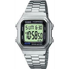 Lässige quadratische Armbanduhren aus Edelstahl mit Datumsanzeige