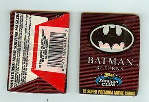 1991 Topps Stadium Club Batman Returns single Wax Pack