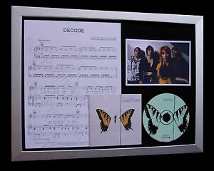 PARAMORE Decode LTD TOP QUALITY MUSIC CD FRAMED DISPLAY+EXPRESS GLOBAL SHIPPING
