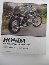 HONDA  400-450cc TWINS  1978-87 CLYMER SERVICE-REPAIR MANUAL426 PAGES guidebook