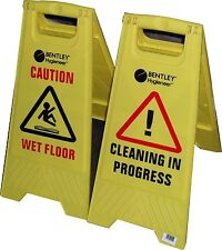 ONE CAUTION WET FLOOR /CAUTION CLEANING IN PROGRESS / A-frame sign Warning Sign