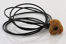 Genuine Sea Piece BALTIC AMBER Leather Unisex Wrap Bracelet 7g b170524-2