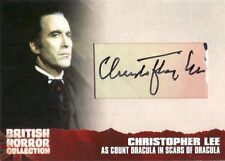 British Horror Collection Christopher Lee as Count Dracula Cut Auto Card CL6