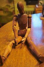 Antique Articulated Artist Posing Model Manequin Old Wood Primitive Piece