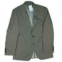 Elton Herren Sakko Blazer Jacke Business Anzug Gr.48 L gestreift Grau Neu