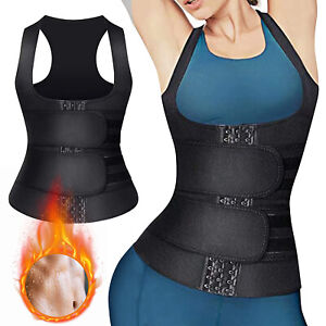 Women Gym Waist Trainer Body Shaper Belt Neoprene Sauna Sweat Vest Shapewear US