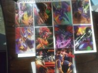 1995 MARVEL ANNUAL FLAIR INSERT POWERBLAST Lot Of 8 And 1994 Flair Lot Of 2