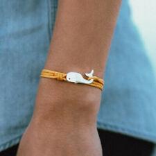 Cape Clasp WHALE Bracelet bronze waterproof adjustable marine grade cord jewelry