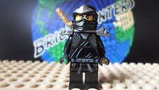 LEGO® Ninjago™  Black Ninja Cole  ZX w/ armor minifigure - Lego 9444 9447 9579