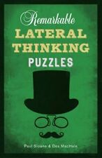 Remarkable Lateral Thinking Puzzles, Very Good Condition Book, Des MacHale, Paul