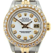 Rolex Datejust Lady Yellow Gold & Steel Watch White Diamond Dial & Bezel 69173