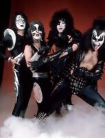 KISS 11X8.5 PHOTO PAUL GENE ACE PETER ORIGINAL LINEUP 1976 GLOSSY FINISH