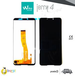 DISPLAY LCD + TOUCH SCREEN VETRO ASSEMBLATO PER WIKO JERRY 4 NERO BLACK SCHERMO
