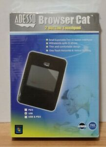 New! Adesso ATP-400UB Browser cat 2-Button USB Touchpad Mouse - SEALED