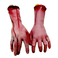 1 Pair Simulation Human Arm Hands Bloody Dead Body Parts Halloween Decorations