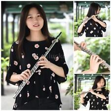 16 Closed Hole Flute C Key Silver Plated Cupronickel Tube With Padded Bag D1M6