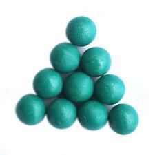 New .68 cal Reusable resilient soft Rubber Training Balls Paintballs  Green