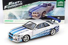 Brian's Nissan Skyline GT-R (R34) année 1999 film 2 Fast 2 Furious 2003 1:18 Gr
