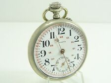 HASTE SWISS LEPINE TASCHENUHR METALL THIEL HANDAUFZUG POCKET WATCH MONTRE POCHE