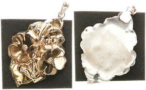 Biedermeier Spilla Circa 1880,Goldblech 585,Rückplatte Argento, 7,39g