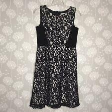 Calvin Klein Dress Size 12 Black Lace Overlay A-Line Dress Sleeveless