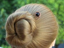 Copper Hair Pick Black Glass Hair Fork Metal Hair Stick Hair Pin Bun Holder Gift