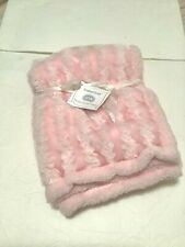 "BABY GEAR Boutique Pink Soft Plush Baby Blanket 30""x30"""