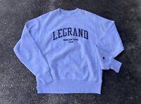 Retro 2016 LeGrand Marcom Team Gray Champion Reverse Weave Size Small